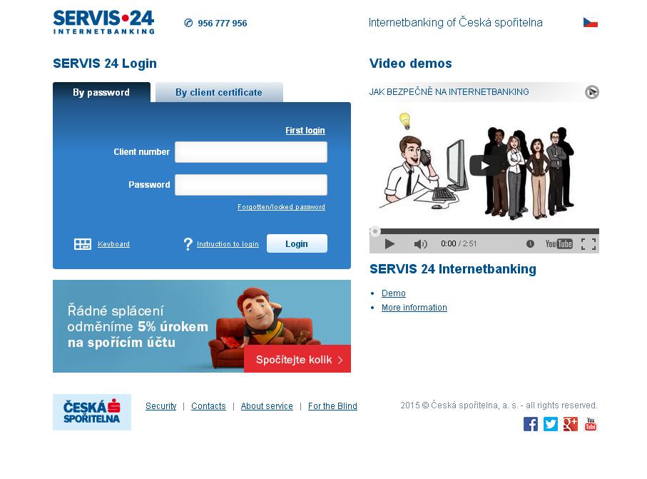 Servis24 internetové bankovnictví