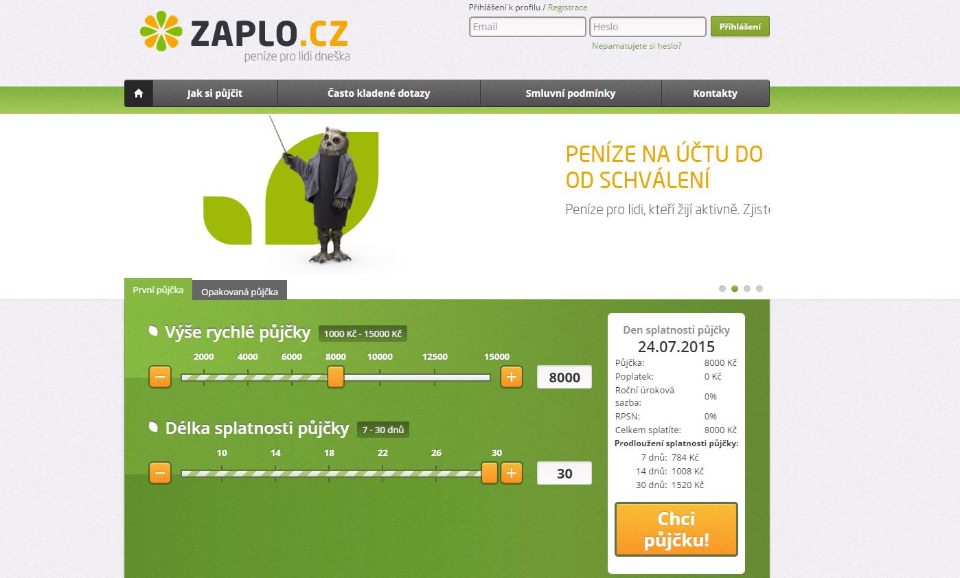 Zaplo.cz - Kratkodoba pujcka